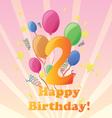 Happy birthday two years vector