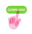 Social media symbol - hand icon pushing vector