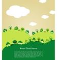 Ecological town vector