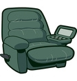 Reclining chair vector