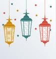 Intricate arabic lamps for ramadan kareem vector