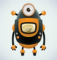 Cute retro robot vector