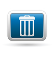 Clean icon on blue with silver rectangle vector