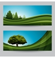 Spring background nature banner with tree vector