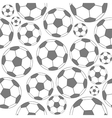 Black and white soccer seamless pattern vector