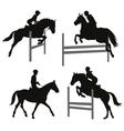 Equestrian sports set 2 vector