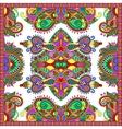 Ornamental floral paisley bandanna square vector