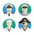 Avatars people profession sailor pirate vector