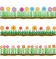 Set of four plant or leaf and flower icons vector