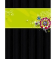 Hand draw flowers on black background vector