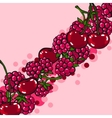 Pink background with berries vector