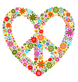 Peace floral pattern symbol vector