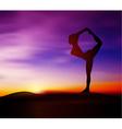 Yoga pose silhouette vector