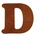 Leather textured letter d vector