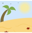 Summer landscape a sunny beach with palm vector
