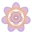 Guilloche star rosette vector