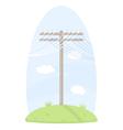 One telegraph pole vector
