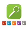 Color set of flat search icon vector