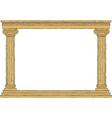 Ancient colonnade vector
