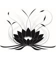 Black japanese lotus vector