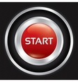 Start button on carbon fiber background vector