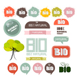 Bio - natural product green labels - tags - vector