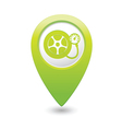 Wheel pump icon green map pointer vector