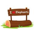 I love elephant vector