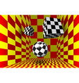 Abstract figures in the checked room vector
