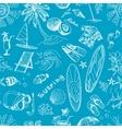 Blue surfing hand draw pattern vector