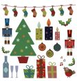 Christmas objects vector