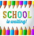 School is waiting - hand drawn lettering with vector