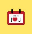 Love valentine day calendar vector