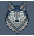Wolf head mascot mosaic isolated vector