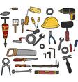 Tools hand drawn vector
