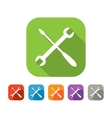 Color set of flat crossed tools icon vector