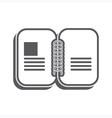Open notebook silhouette vector