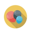Flat design concept balloons icon with long vector