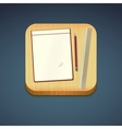 Mobile app icon - pencil wood board notebook vector