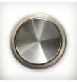 Metal button detailed icon vector