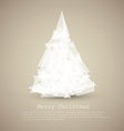 Modern card with abstract white christmas tree vector