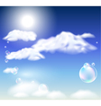 Clouds and bubbles vector