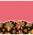 Pink background with color flowers vector