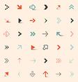 Simple arrows set vector