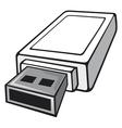 Usb flash memory vector