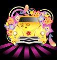 Hippy car vector