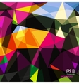 Abstract triangular background on bright colors vector