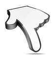 3d cursor hand pointer vector