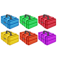Six colorful boxes vector
