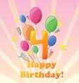 Happy birthday four years vector